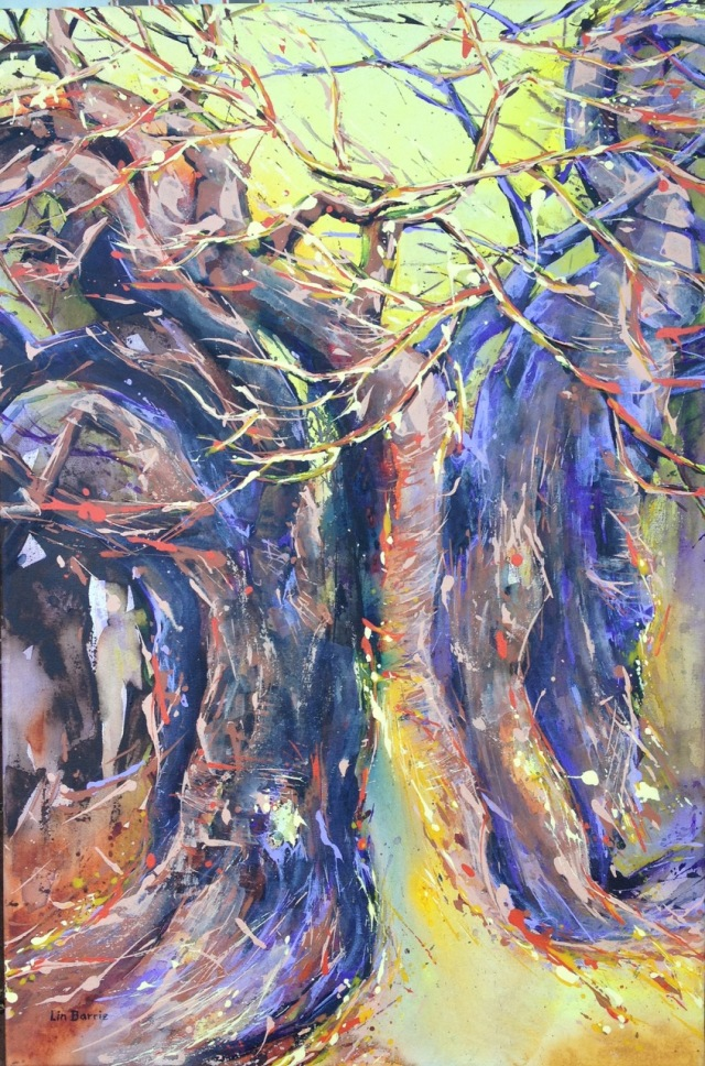 Twin baobab, acrylic on stretched canvas, 91 X 61 cm, lo res.jpeg