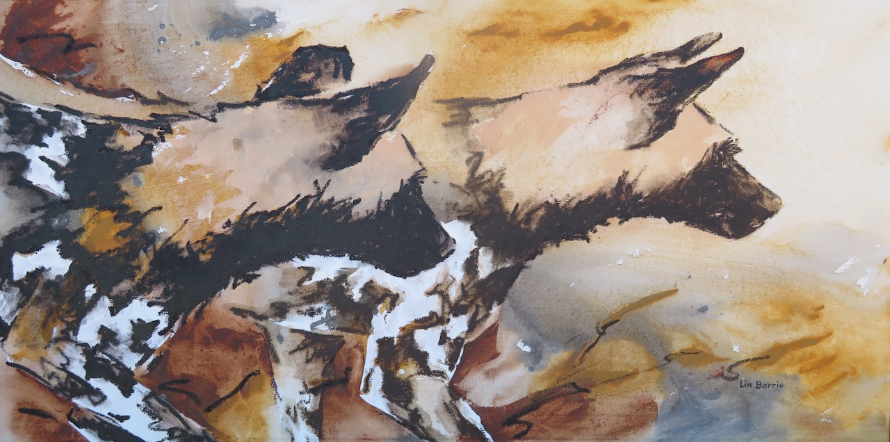 Hunting, mixed media on stretched canvas, 2 x 4 feet  lo res.jpg
