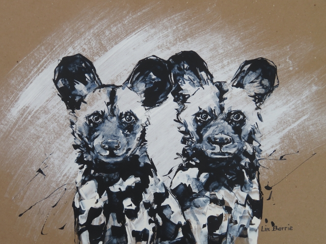 Puppy Love II, acrylic on brown craft paper, 34 x 47 cm (A3) lo res.jpg