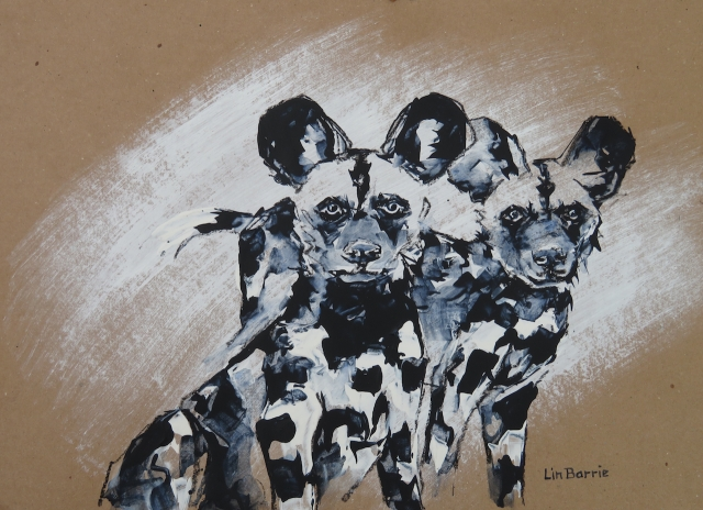 Puppy Love IV, acrylic on brown craft paper, 34 x 47 cm (A3) lo res.jpg