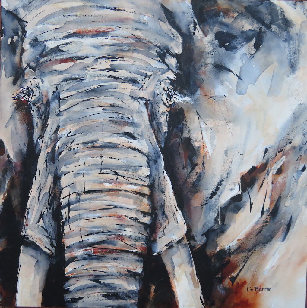Elephant, acrylic on deep stretched canvas, 2 x 2 feet  lo res.JPG