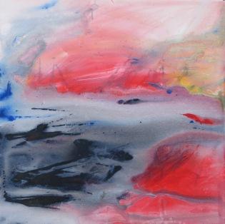 New Dawn I, acrylic on deep stretched canvas, 2 x 2 feet (61 x 61 cm) lo res