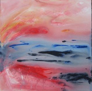 New Dawn II, acrylic on deep stretched canvas, 2 x 2 feet (61 x 61 cm) lo res