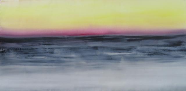 Plum Horizon, acrylic on loose canvas, 88 x 180 cm. jpg lo res