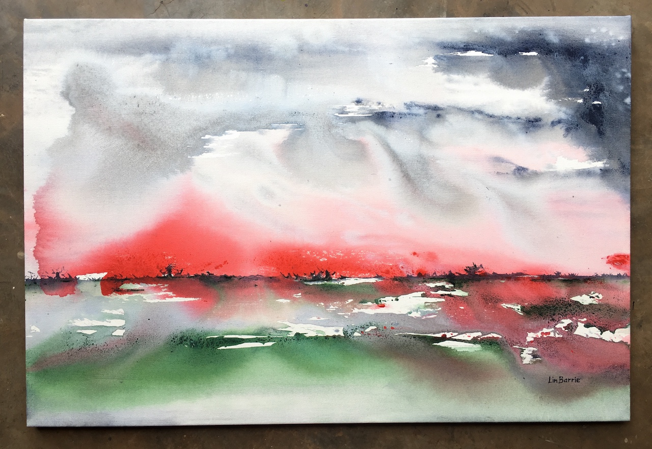 After the Storm, acrylic on stretched canvas, 2 x 3 feet lo res