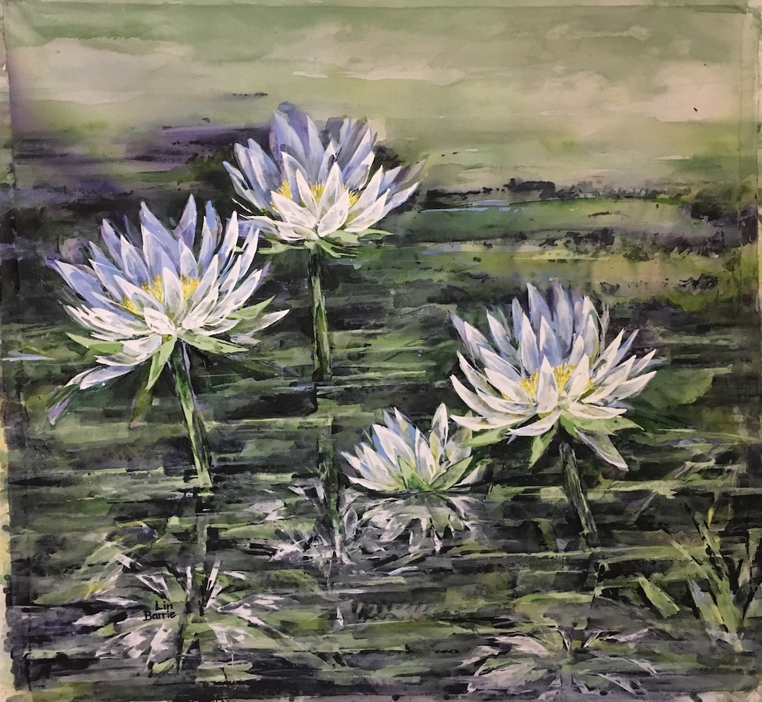 Waterlilies, acrylic on loose canvas, 94 x 104 cm lo res.jpg