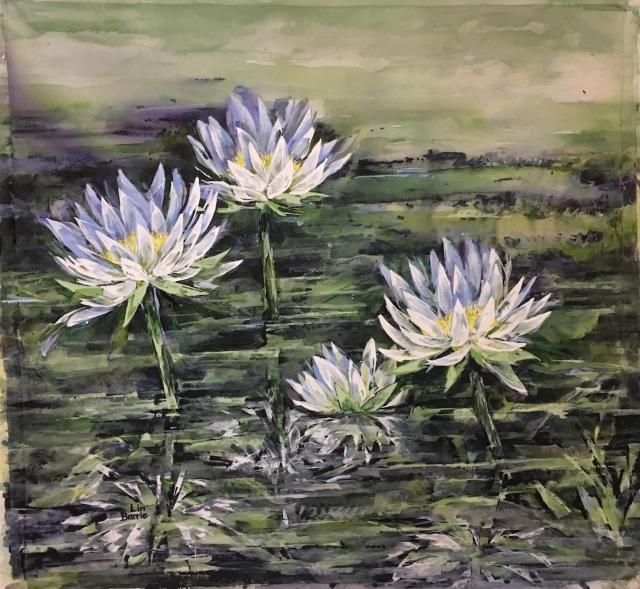 Waterlilies, acrylic on loose canvas, 94 x 104 cm lo res.jpg